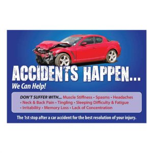 chiropractic posters, auto accident poster, pi poster