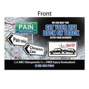 chiropractic postcard, personal injury postcard, auto accident postcard, pi postcard