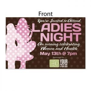 chiropractic postcards, online print store, ladies night