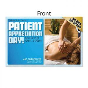 patient appreciation postcard, existing patient postcard